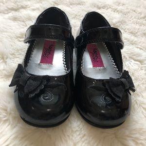 Rachel Shoes Black Toddler Girl Dressy Shoes Sz 6